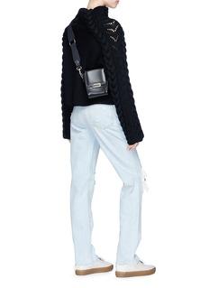 Chris Ran Lin x Lane Crawford Cable knit panel wool sweater