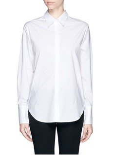 3.1 PHILLIP LIM Bar cufflink darted combo shirt
