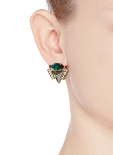 IOSSELLIANI Pyramid crystal earrings