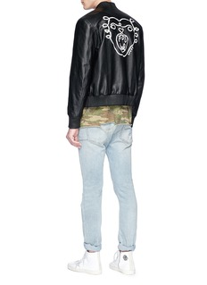 LOUSY x Lane Crawford Hand painted lambskin leather bomber jacket