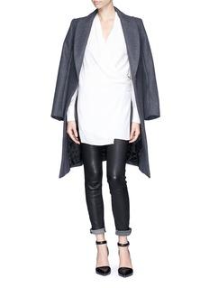 HELMUT LANG'Fold Over Drape' wrap front blouse