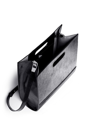 Detail View - Click To Enlarge - Alexander Wang  - 'Chastity' mirror leather shoulder bag