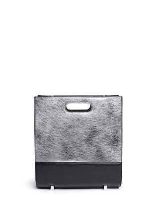 Back View - Click To Enlarge - Alexander Wang  - 'Chastity' mirror leather shoulder bag