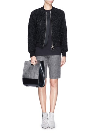 Figure View - Click To Enlarge - Alexander Wang  - 'Chastity' mirror leather shoulder bag