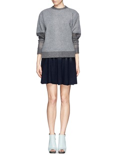 3.1 PHILLIP LIM Wool felt degradé flare skirt