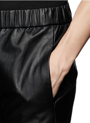 Detail View - Click To Enlarge - Theory - 'Korene' crop leather pants
