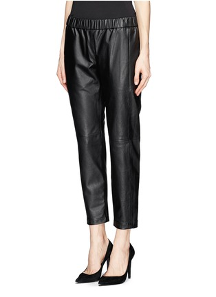 Front View - Click To Enlarge - Theory - 'Korene' crop leather pants