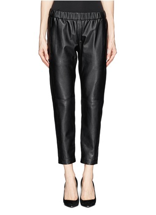 Main View - Click To Enlarge - Theory - 'Korene' crop leather pants