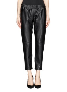 THEORY 'Korene' crop leather pants