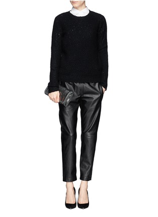 Figure View - Click To Enlarge - Theory - 'Korene' crop leather pants