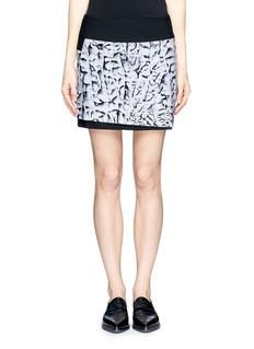 HELMUT LANG'Strata' print mini skirt