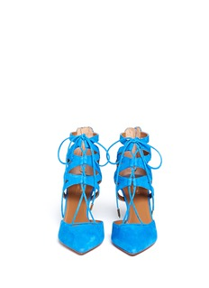 AQUAZZURA 'Belgravia' suede caged pumps