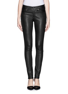 HELMUT LANG Leather combo stretch jeans