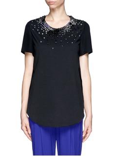 3.1 PHILLIP LIMJewel neckline sheer top