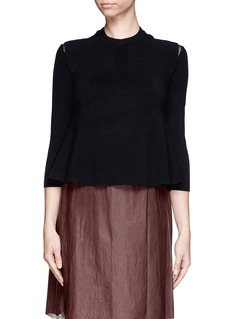 3.1 PHILLIP LIMCropped rib knit sweater