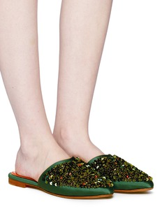 ZYNE 'Luna' sequinned satin slides