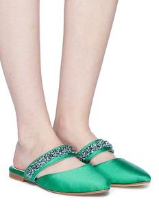 ZYNE 'Couture' embellished satin slides