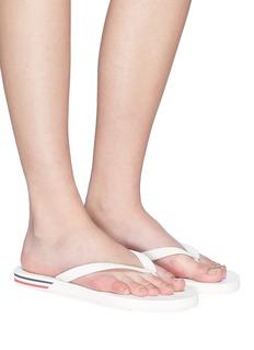 Moncler 'Yolene' stripe sole flip flops