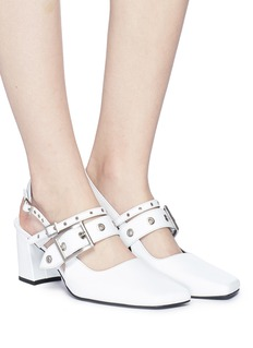 Yuul Yie Eyelet double strap slingback pumps