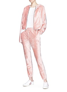 NikeLab 'Essentials' velour cropped sweatpants