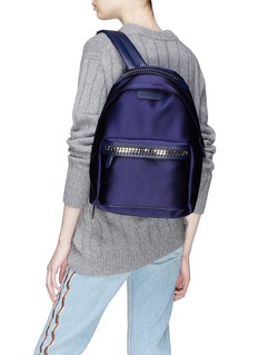 Stella McCartney 'Falabella Go' satin backpack