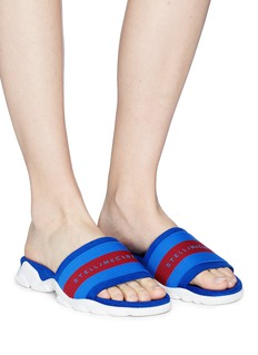 Stella McCartney Stripe faux suede slide sandals