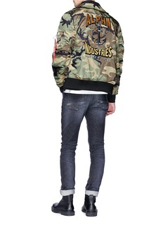 Alpha Industries 'CWU 36/P Mod Triton' camouflage print bomber jacket