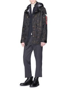 Alpha Industries 'Ecwcs Torrent' camouflage print hooded parka