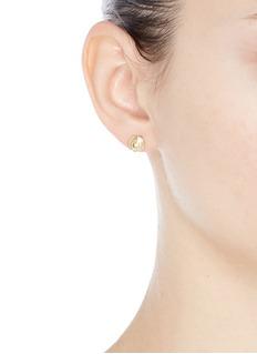 ELIZABETH AND JAMES Reeves托帕石点缀镀金螺旋圆形耳钉