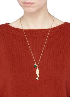 ELIZABETH AND JAMES Mallory玛瑙点缀镀金美人鱼项链