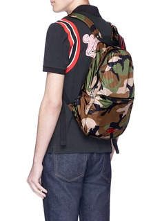 Valentino Packable rockstud camouflage print backpack