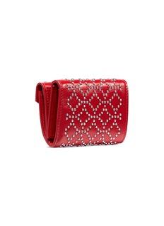 Alaïa 'Arabesque' geometric stud leather trifold wallet