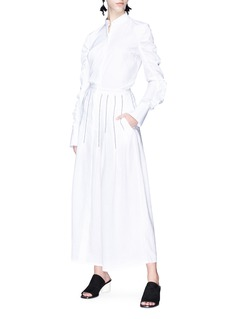 Gabriela Hearst 'Joanne' contrast stitch linen skirt