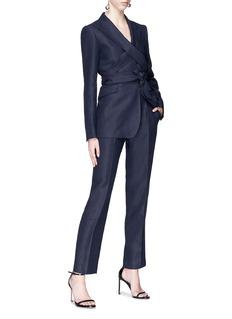 Gabriela Hearst 'Nutter' linen wrap blazer