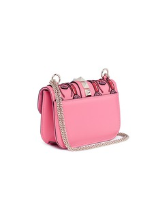 Valentino 'Rockstud Lock' Lipstick Waves embellished leather small crossbody bag