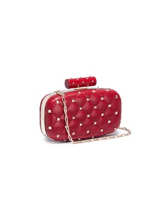 Valentino 'Rockstud Spike' quilted leather minaudière