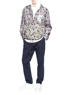 Rochambeau 'Bubble' graphic print coach jacket