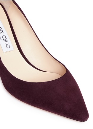 Detail View - Click To Enlarge - Jimmy Choo - 'Romy 60' suede pumps