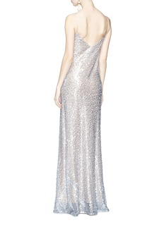 Galvan London 'Estrella' paillette tulle maxi slip dress