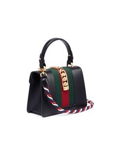 Gucci 'Sylvie' mini leather chain Web leather bag