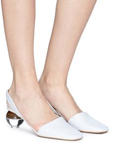 NEOUS Lancastrella圆球鞋跟真皮尖头鞋