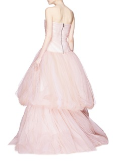Maticevski 'Dreamer' puffed tulle strapless gown