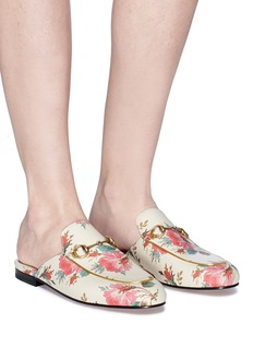 Gucci 'Princetown' floral print slide loafers