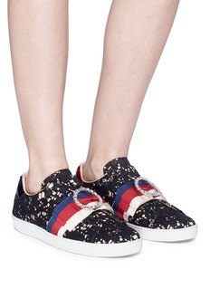 Gucci 'Ace' Sylvie bow guipure lace slip-on sneakers
