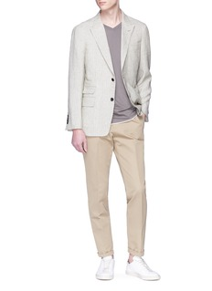 Tomorrowland Stripe hopsack blazer