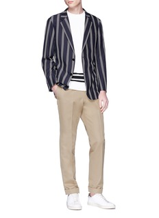 Tomorrowland Stripe silk seersucker blazer