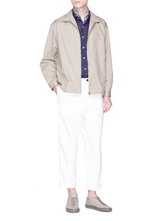 Tomorrowland Chest pocket poplin zip shirt jacket