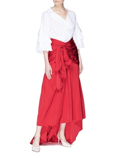 Rosie Assoulin 'Tri-tie' drape high-low skirt