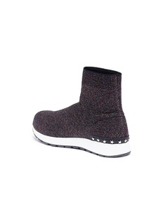 WiNK 'Liquorice' mid top knit kids sneaker boots