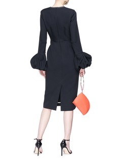 Roksanda 'Lena' bell cuff bonded crepe dress